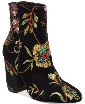 73d359b28eb STEVEN by Steve Madden Women s Lissa Embroidered Booties Steve Madden Boots