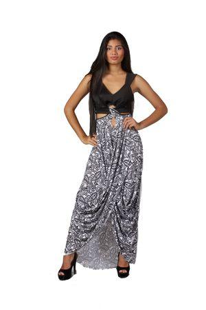 Vestido Laya de Bancy de Lycra y top de microfibra de la marca venezolana Bancy. diseñado por Carolina Bancy