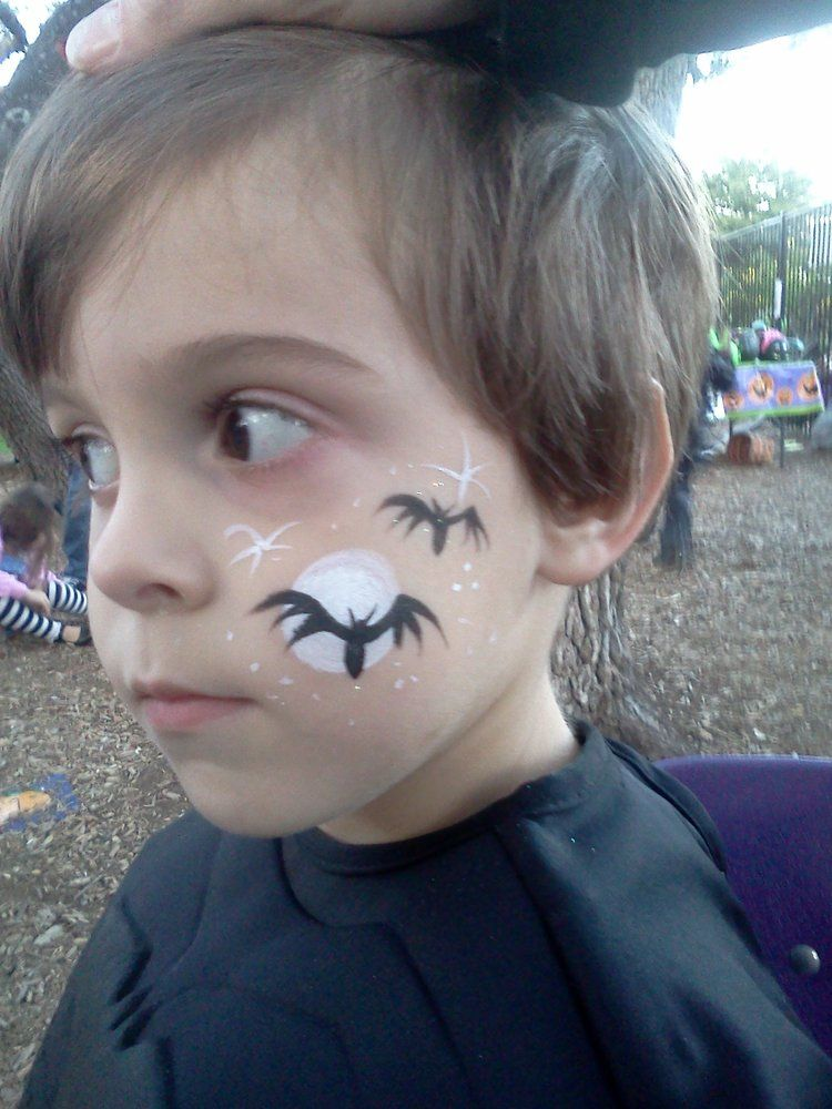 Woo Who! Austin, TX, United States. Bats Face Paint