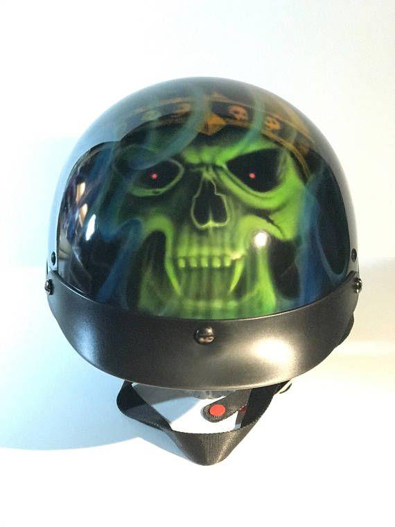 Custom Painted Motorcycle Half Helmets