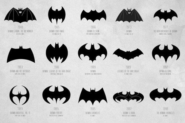 Cathryn Lavery - Evolution du logo de Batman   Fonts & Graphics ...