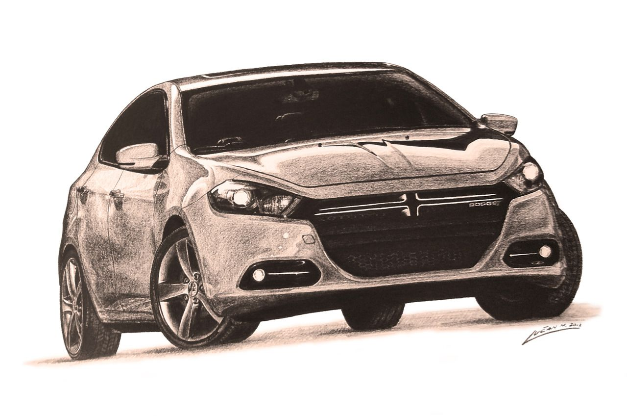 Dodge Dart Drawing The New Drawing Of A Dodge S New Model Dart