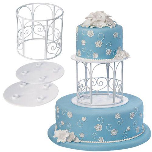 Acrílico Mini Espejo base Pastel Separador Jaula Cristal Cake Topper Boda Stand
