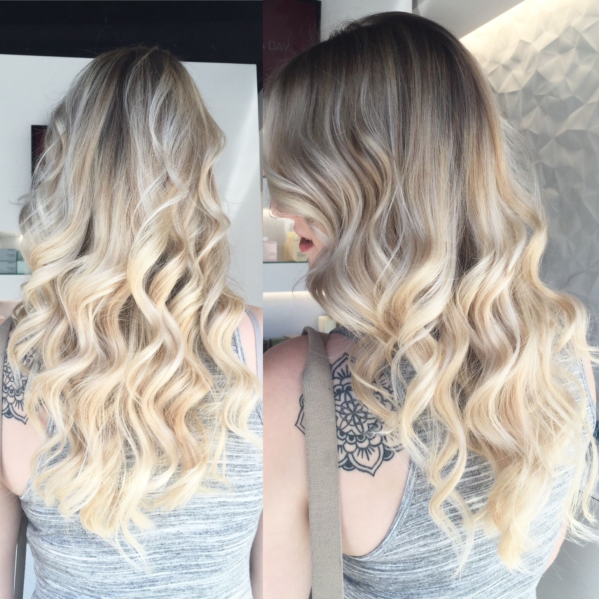 #SeniorStylist #MauraSantostefano gave our client Jenna stunning bright blonde #balayage highlights for summer! #blonde #ottawa #oldottawasouth #ottawasalon #HRBL #behindthechair BehindTheChair.com
