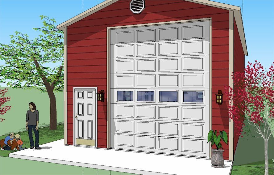 20 Wide Steel Garage With 12 X14 High Garage Door Garage House Plans Rv Garage Carport Designs