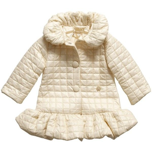 Baby Girls Cream Quilted Coat with Logo Charm - Baby  c7318cb3481a