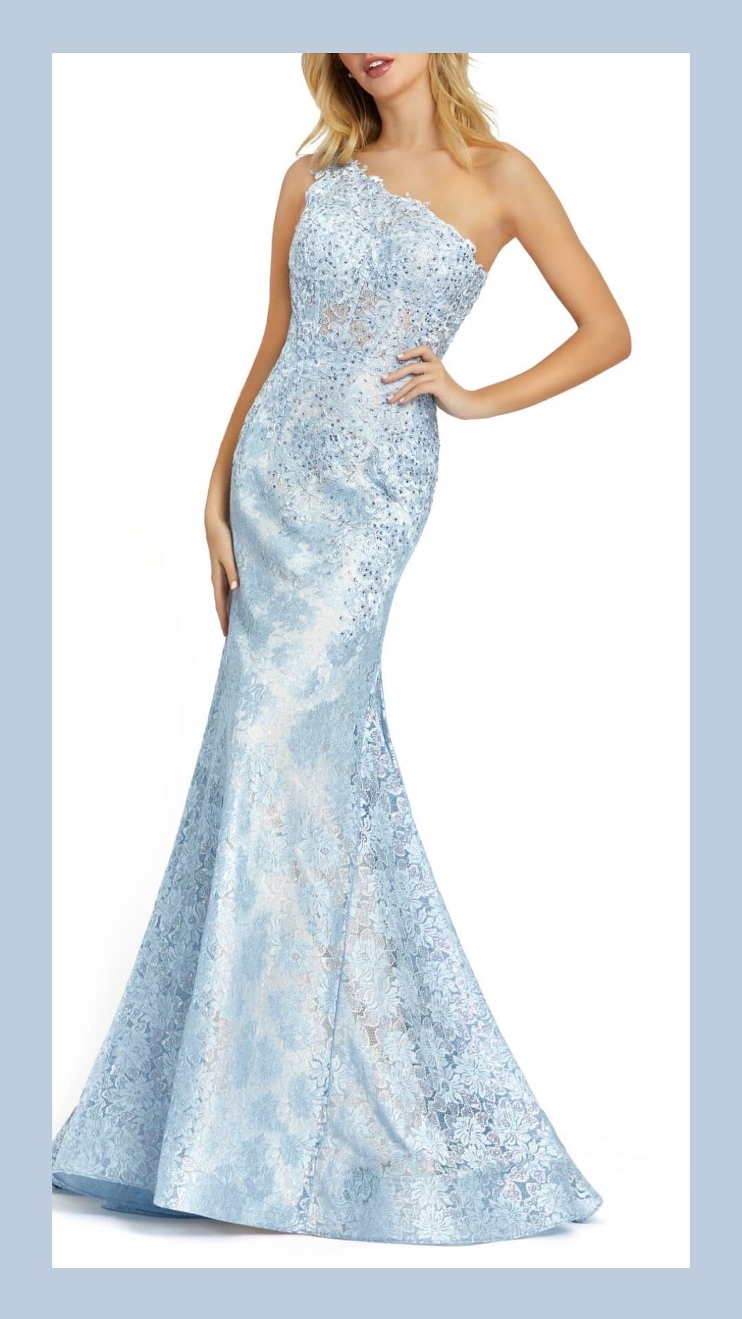 Ice blue wedding guest dress https//rstyle.me/czn