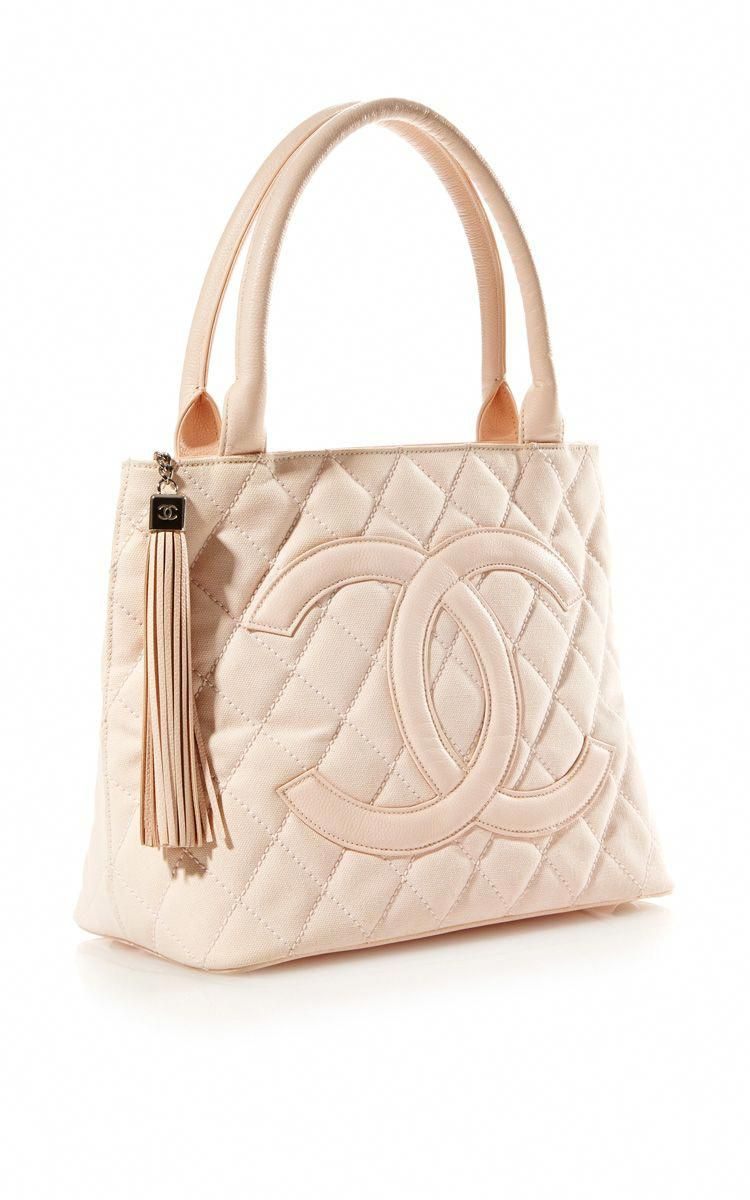 28d7a31d62b6 Vintage Chanel Pink Canvas Quilted CC Bag From What Goes Around Comes Around  by Vintage Chanel from What Goes Around Comes Around for Preord.