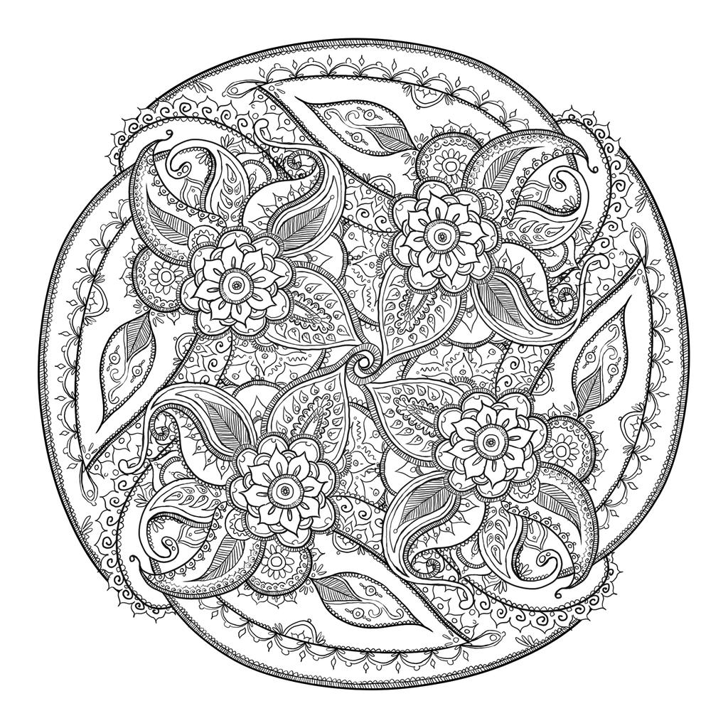 Small Paisley circle by CatzillaDKdeviantart