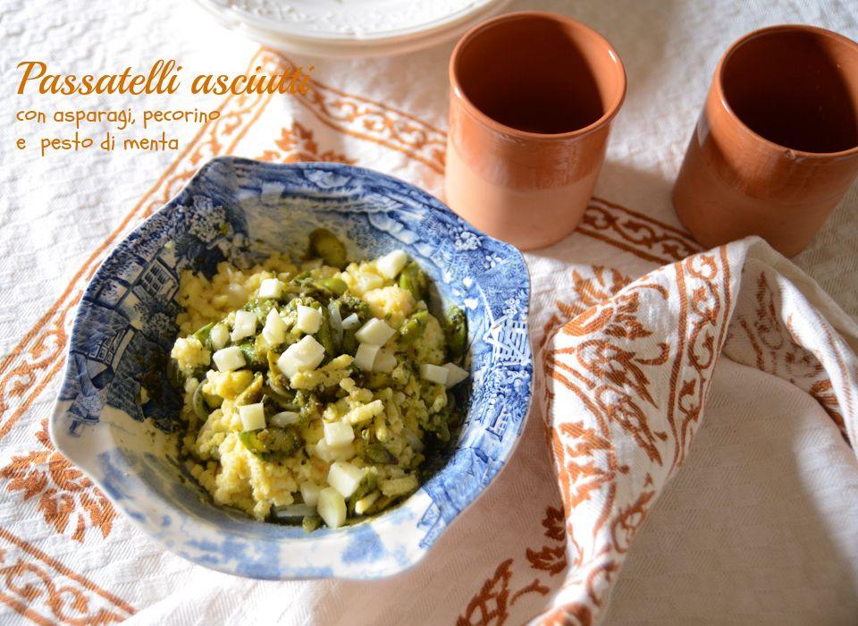 """""""Passatelli asciutti """"gluten free"""" con asparagi, pecorino e pesto di menta"""", la ricetta di Marica, del blog """"Cooking with Marica"""" http://www.cookingwithmarica.net/passatelli-asciutti-gluten-free-con-asparagi-pecorino-e-pesto-di-menta/"""