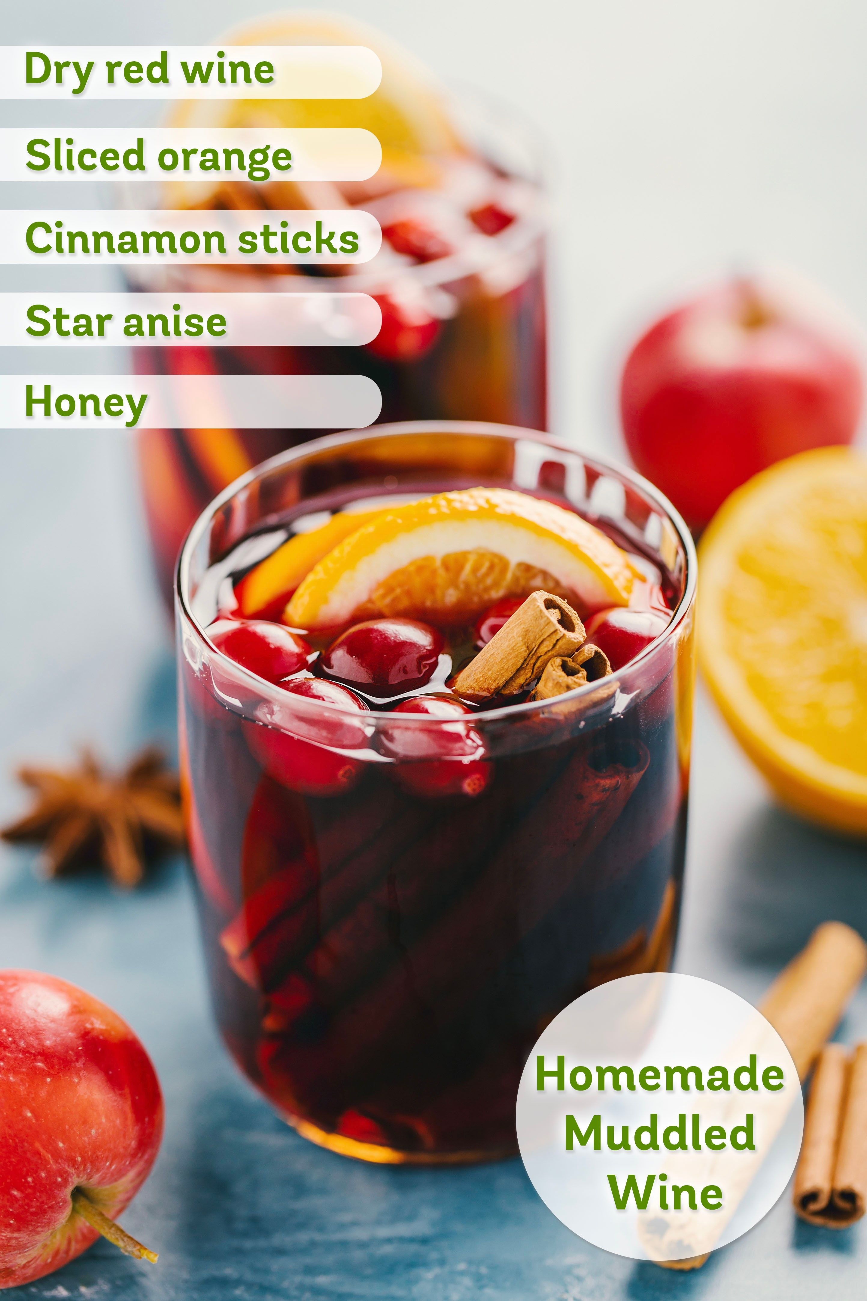 Expecting Holiday Guests Get Ready To Impress This Muddled Wine Recipe Is Easy To Make And Best Served Warm You Can Even Add Brand Recipes Wine Recipes Food