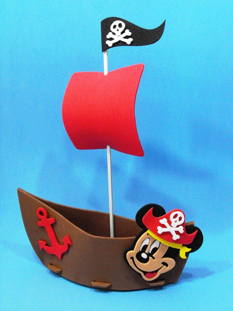 barco pirata   trabajo en góma eva   Pinterest   Barco pirata ...