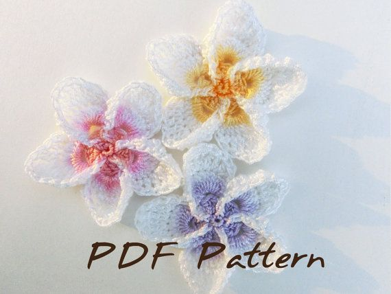 Crochet Pattern Easy Hawaiian Flower Pattern Plumeria Crochet