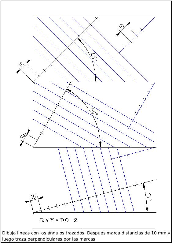 Rayado2 Png 563 794 Tecnicas De Dibujo Dibujo Tecnico Ejercicios Vistas Dibujo Tecnico