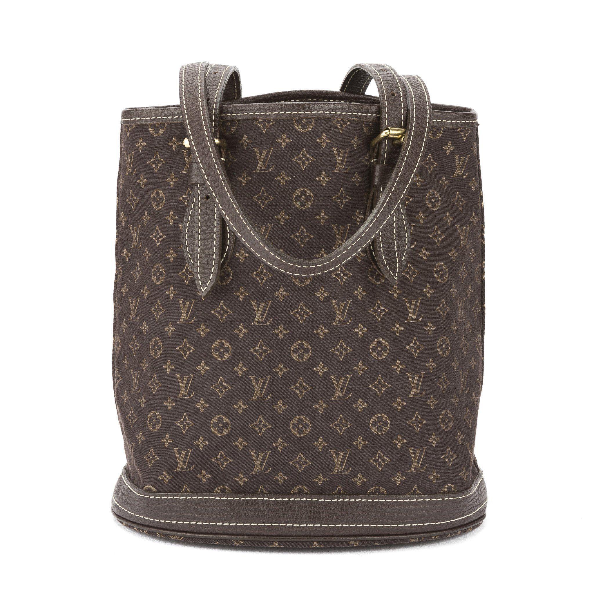6332c94c5ab2 Louis Vuitton Ebene Monogram Mini Lin Petit Bucket Bag (Pre Owned ...