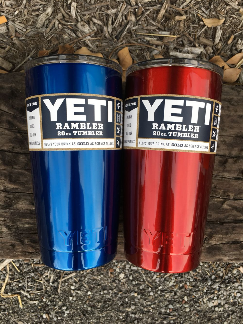269bf209aa4 Big Rock Candy Mountain Blue and Candy Red My Heart -- Powder Coated YETI  Tumblers