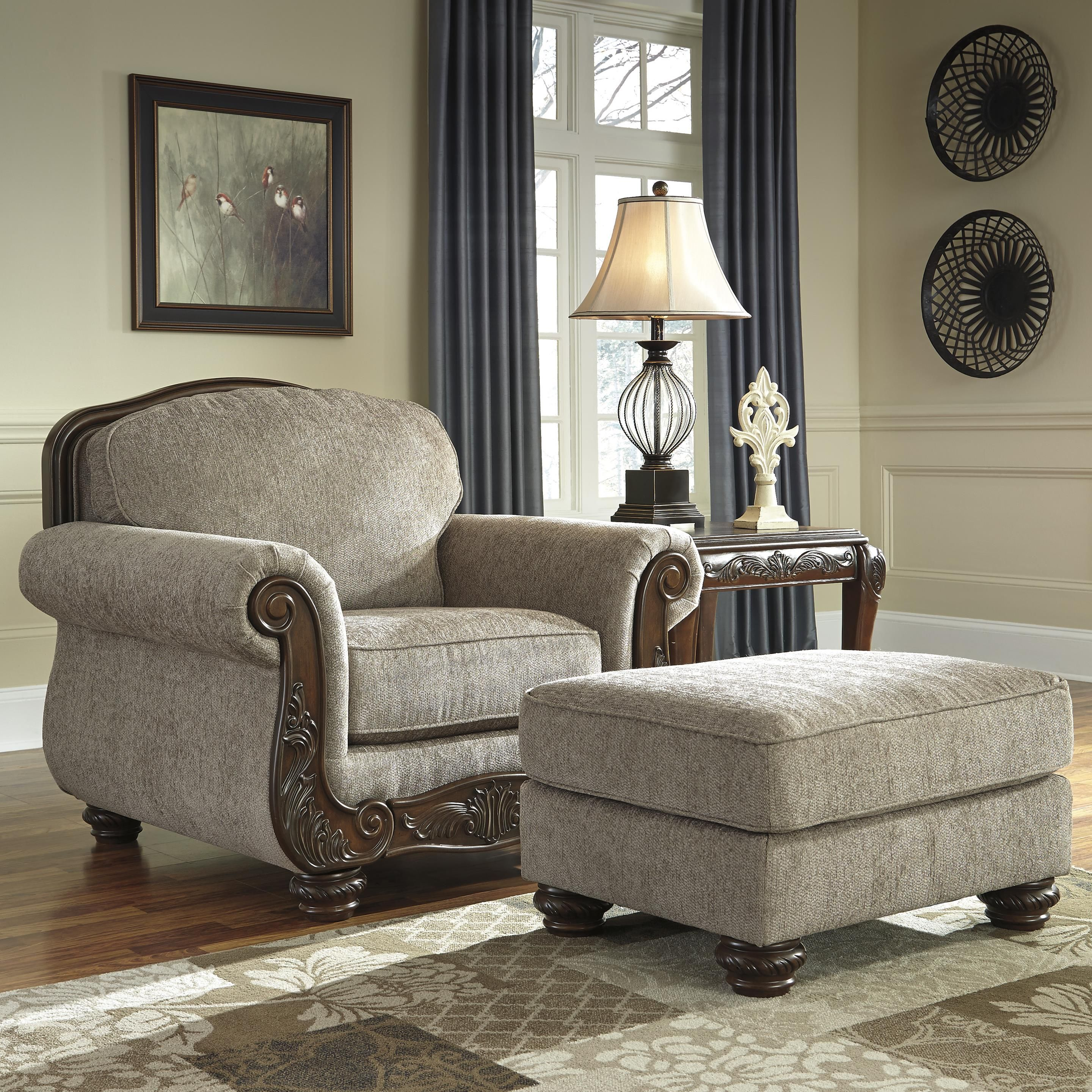 Furniture Living Room Seating Ottomans Traditional