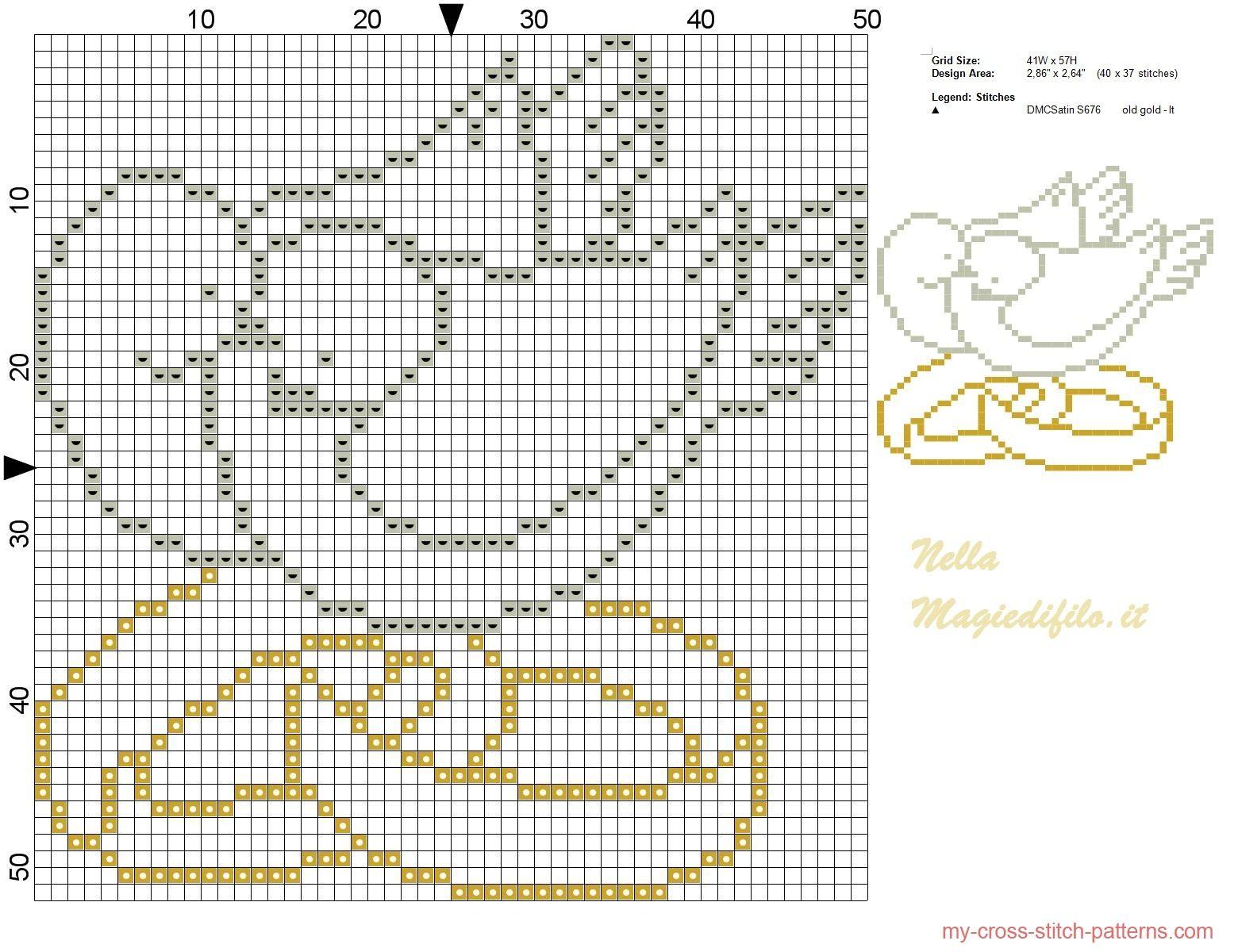 Схема вышивок крестом для свадебной открытки