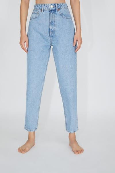 Zara Female Mom Fit Jeans Light Blue 29 Us 8 Weisse Jeans Outfit Mutter Jeans Hosen Damen