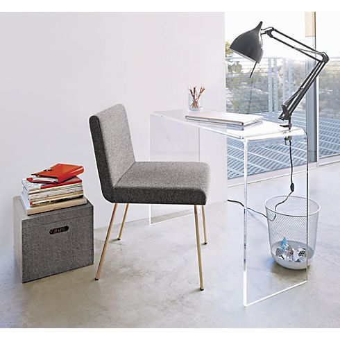 Peekaboo 38 Acrylic Console Table Desks For Small Spaces