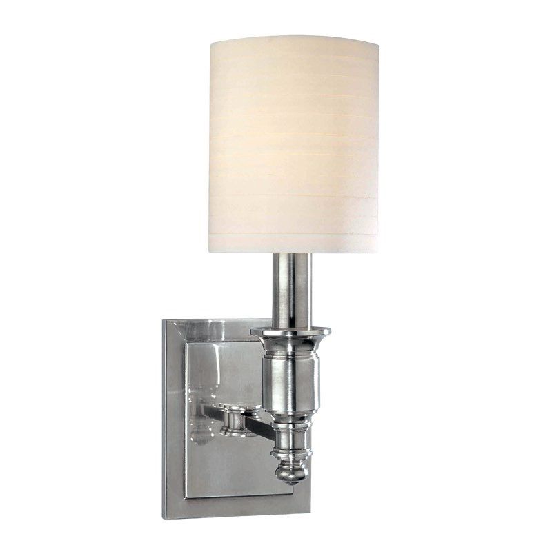 Hudson Valley Lighting 7501 Pn Whitney 1 Light Wall Sconce Polished Nickel With Images Sconces Wall Sconce Lighting Hudson Valley Lighting