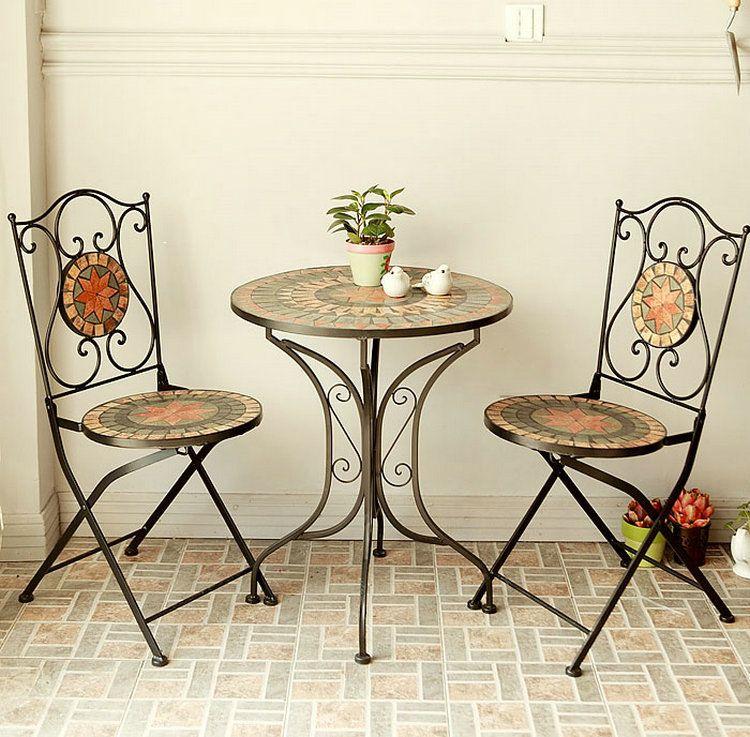 Continental hierro muebles, mesa de café y sillas para exterior ...