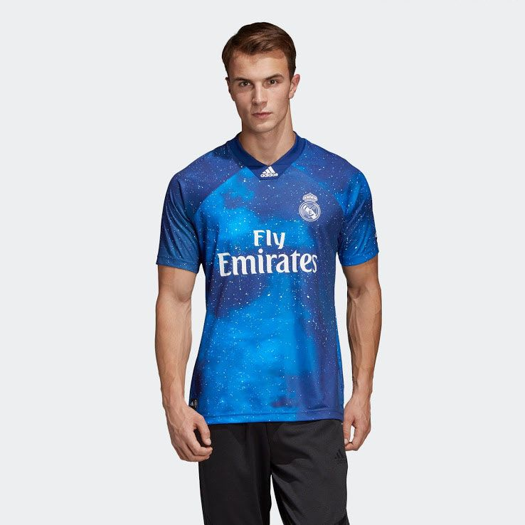 18-19 Real Madrid EA Sports Blue Jersey Shirt, Real Madrid , cheap ...