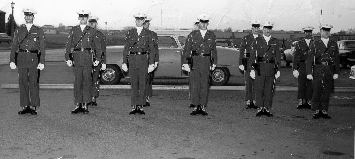 Air Police Guard Mount Westover Afb Early 1960 S Military Police Police Armed Forces