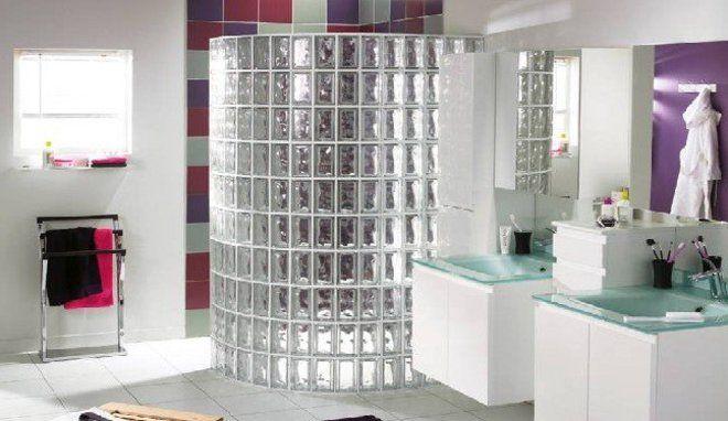 Utiliser des carreaux de verre dans sa maison - carrelage salle de bain petit carreaux