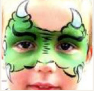 facepaint Monster face painting, Dragon face painting