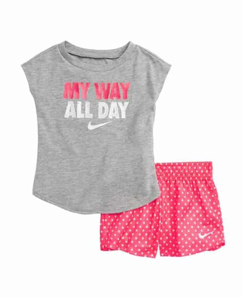 Toddler Girls Nike Graphics My Way All Day Set Baby Clothes Baby Clothing Baby Boy Clothes Baby Girl Clothes Cheap Name Brand Clothes For Kids Toddler N Baby Girl Nike Stylish Baby