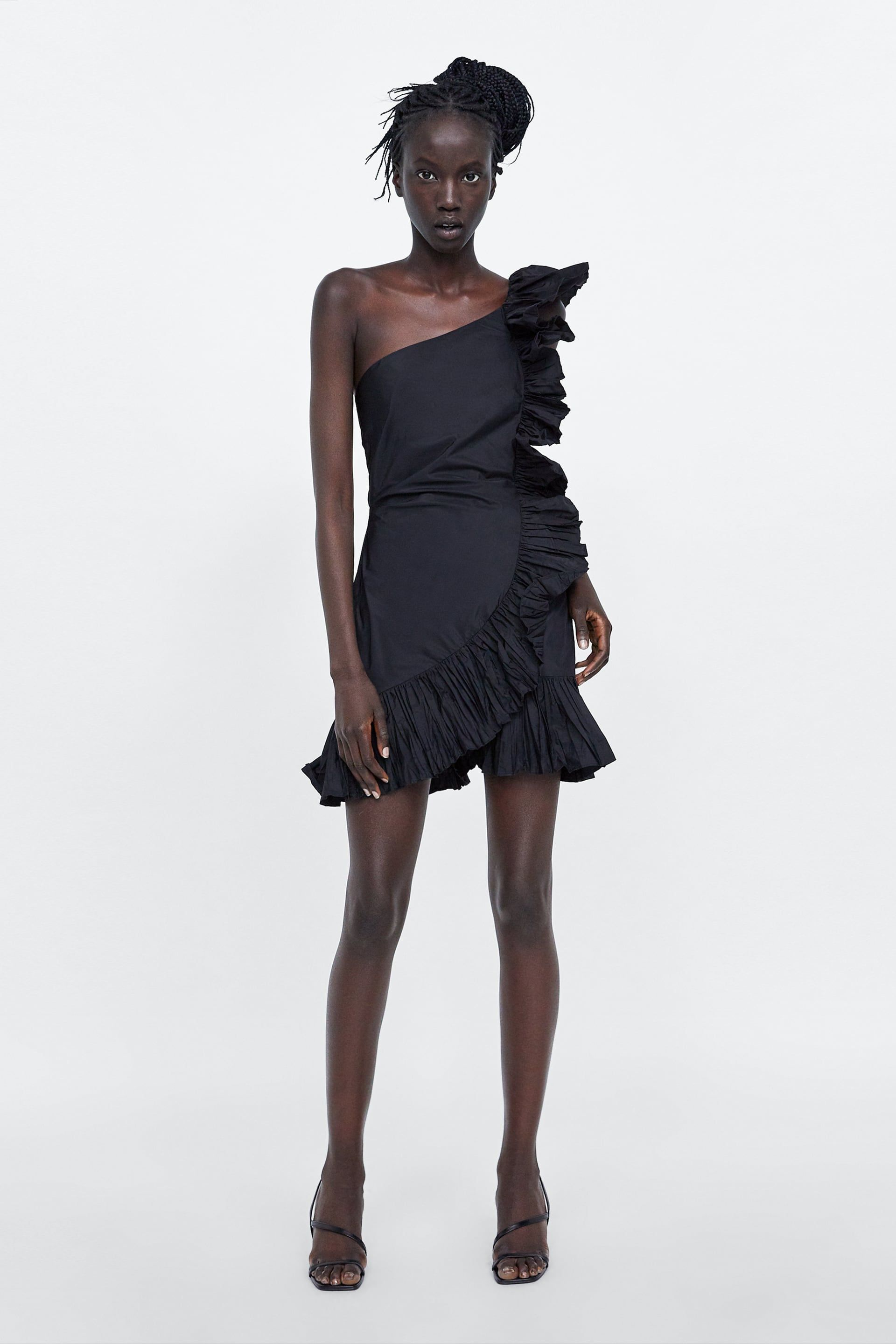 81ae80a9 Image 1 of GATHERED RUFFLE DRESS from Zara | T H R E A D S | Ruffle ...