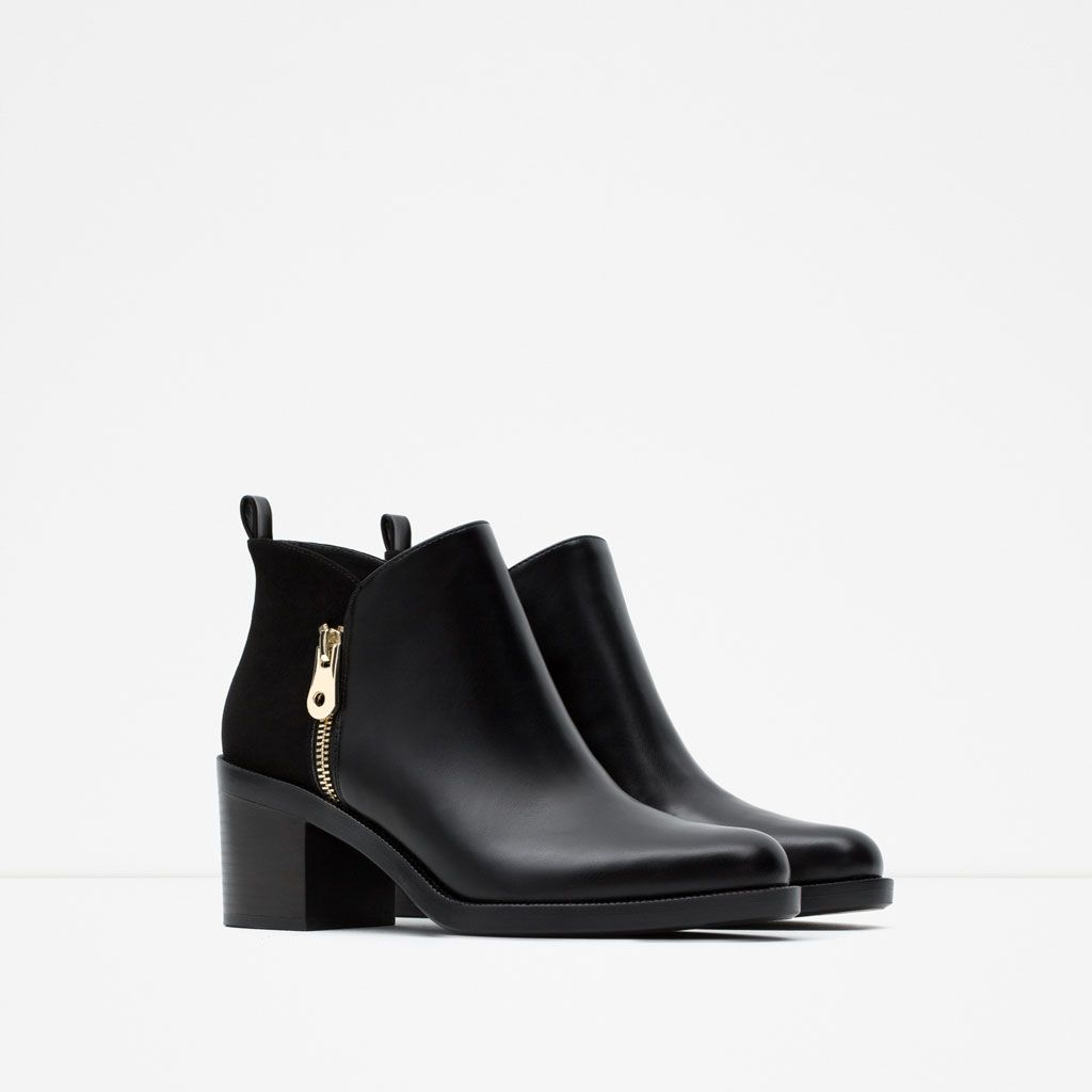 premium selection 85918 e9d77 COMBINED ANKLE BOOTS-Ankle boots-Shoes-WOMAN | ZARA United ...