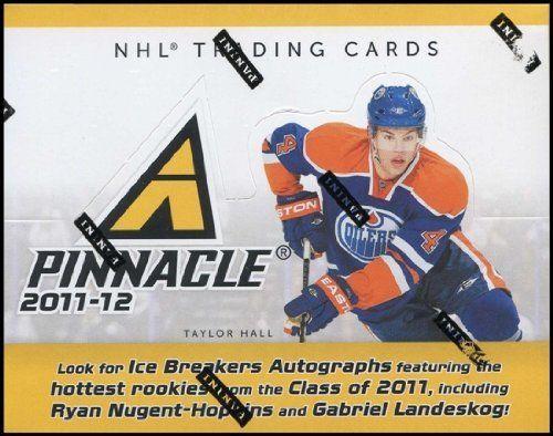 2011/12 Panini Pinnacle Hockey Hobby Box by Pinnacle. $36.95. Look for (2) Memorabilia Cards, (4) Rookie Cards, and (6) other Insert Cards per box! Each CASE contains (9) Autograph Cards! NEW! for 2011/12: Starting Six Threads: featuring six pieces of game-worn memorabilia Pinnacle Black - a dynamic one-per-case addition! Key Rookies: Gabriel Landeskog, Ryan Nugent-Hopkins, Ryan Johansen, Jake Gardiner, Cody Hodgson, Adam Larsson, Sean Couturier, Matt Read, Brandon Saad, Matt ...