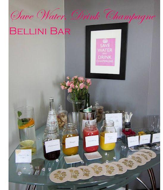 Bling & Bubbly Bridal Shower - Bellini Bar