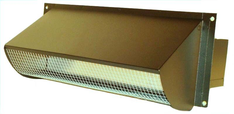 Tight Energy Seal Range Vent With Magnets Black Powder Coated Range Hood Vent Wall Vents Vent Hood