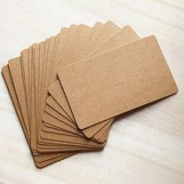 Roundcornerblankbusinesscardsmadeofkraftpaperinbrown good round corner blank business cards made of kraft paper in brown good for craft projects card making etc quantity 100 pcs color brown kraft size cmw x colourmoves
