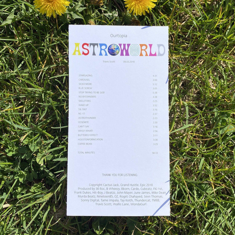 Astroworld Travis Scott Album Receipt Travis Scott Album Blonde Album Thank You For Listening