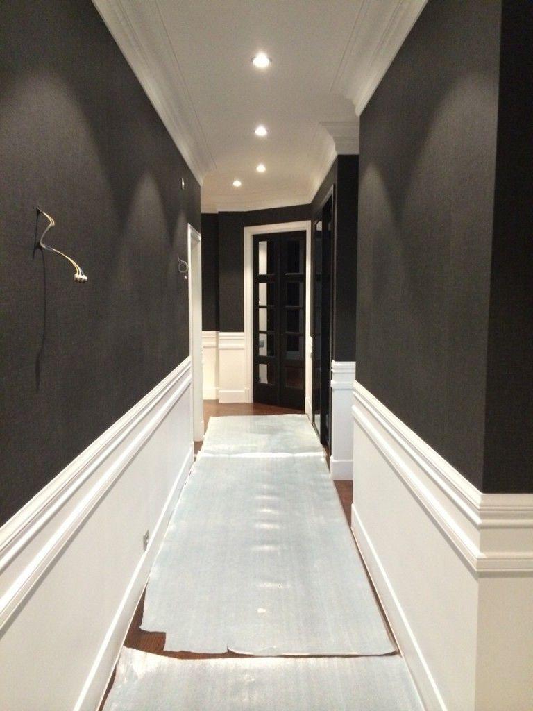 friso lacado blanco y papel pintado en paredes pintura y