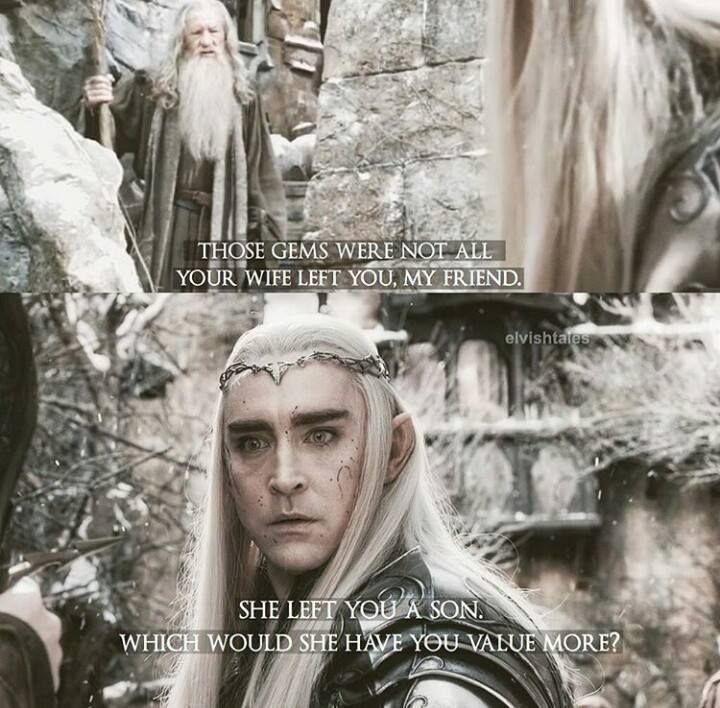 The Hobbit The Battle Of The Five Armies Deleted Scene Thranduil And Gandalf
