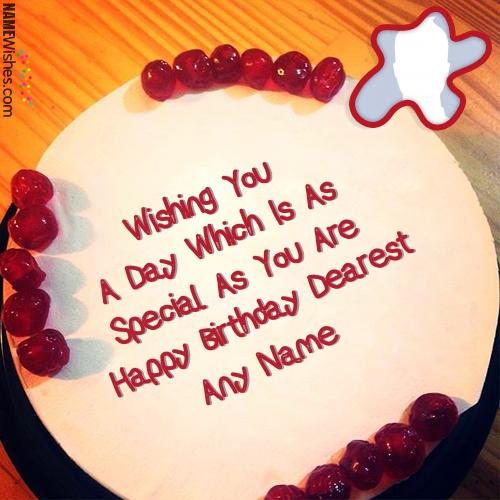 Amazing Birthday Cake With Name