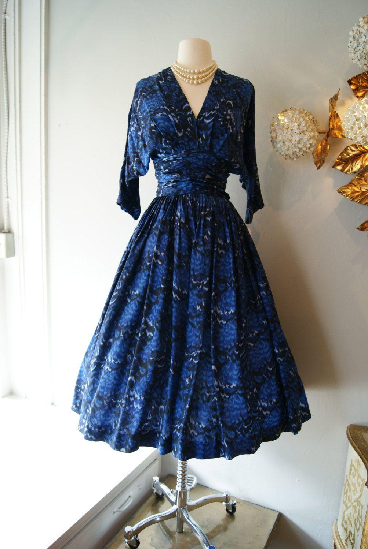 S dress s cocktail party dress vintage s silk deep