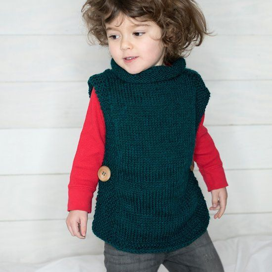 Free Knitting Pattern For This Easy Kids Sweater Beginner Friendly