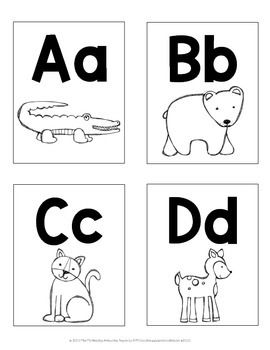 Animal Alphabet Letter Cards With Images Zoo Phonics Phonics