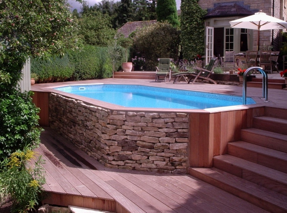 Above Ground Saltwater Swimming Pools Pool Design Ideas Best Above Ground Pool Oval Pool Backyard Pool
