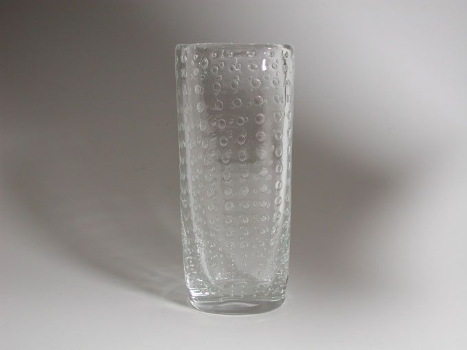 Retro Modern Glass vase - Hermann Bongard for Hadeland