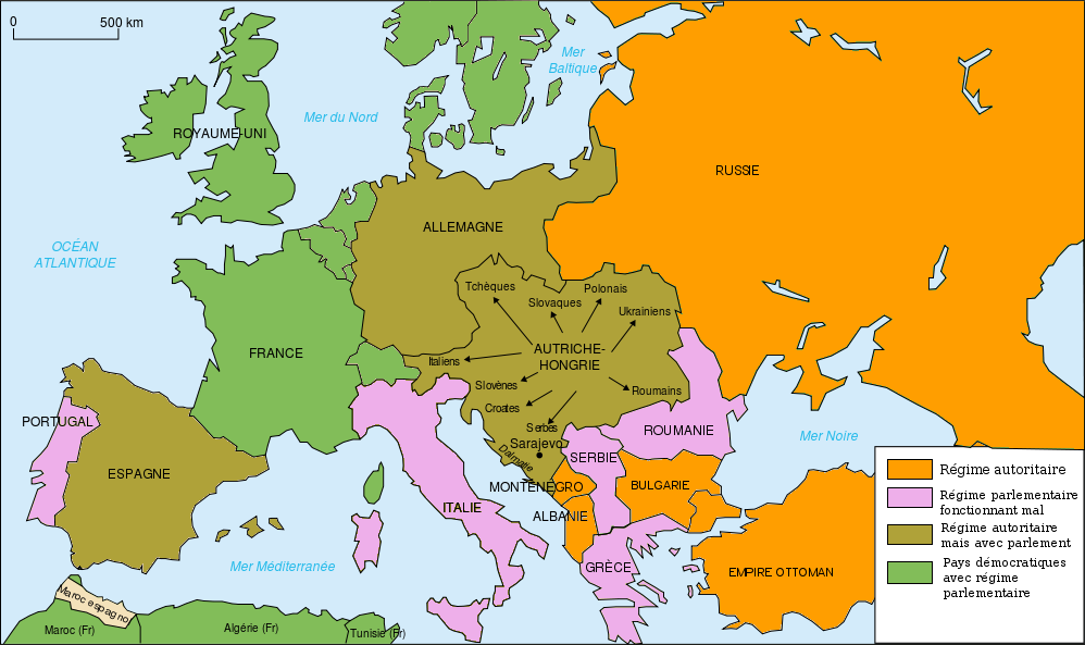 Political map of Europe in 1914. | WW1 | Pinterest | Map, Wwi and Europe