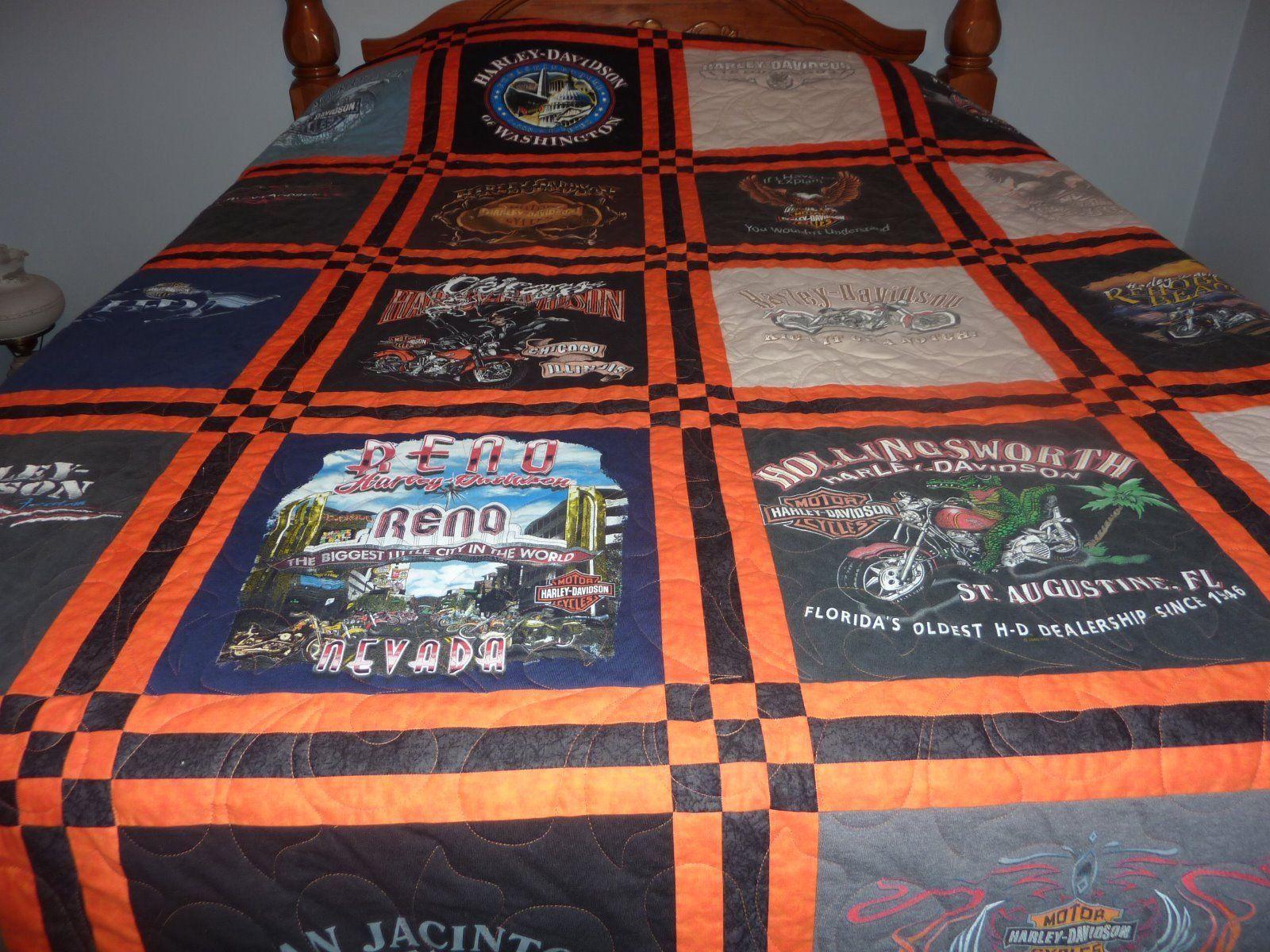 Harley Davidson T Shirt Queen Quilt Blanket | EBay