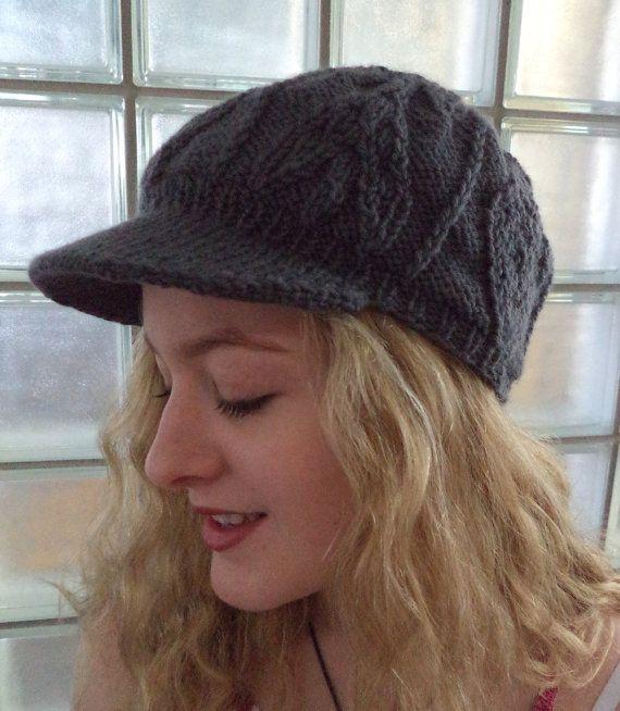 Knitting Pattern Visor Cap Knit Pattern For Men And Women Etsy Visor Beanie Knitted Hats Beanie Hat Pattern