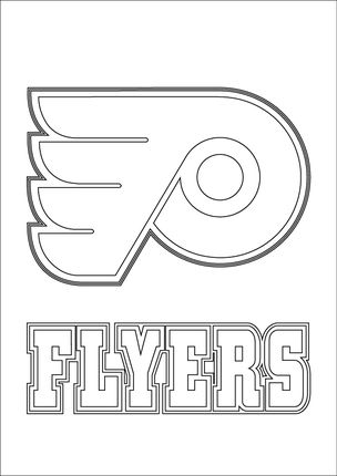 click to see printable version of philadelphia flyers logo coloring page